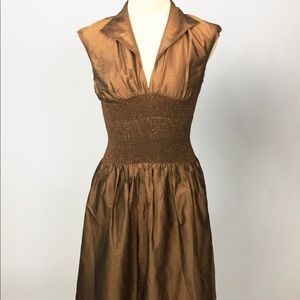 Metallic Gold Cocktail Dress by Shani